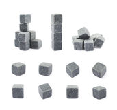 Whiskey stone cube composition isolated Royalty Free Stock Image
