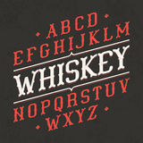 Whiskey style vintage font. Ideal for any design in vintage style Stock Photo