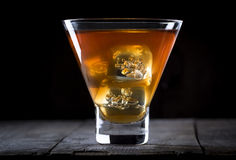 Whiskey sulle rocce Immagine Stock