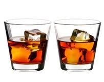 Whiskey sur des roches Photos libres de droits