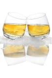 Whiskey sur la glace image libre de droits