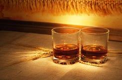 Whiskey sur le renvoi photos libres de droits