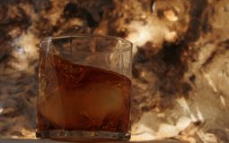 Whiskey sur les roches Photo stock