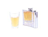 Whiskey sur les roches avec une bouteille Photo stock