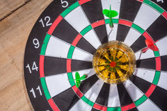 Whiskey on a target Royalty Free Stock Photos