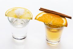 Whiskey and tequila Stock Photos