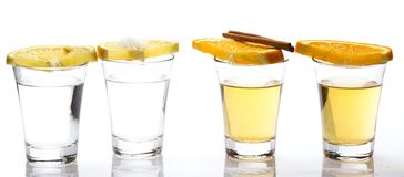 Whiskey and tequila Stock Images