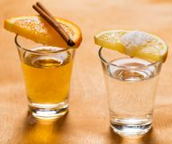 Whiskey and tequila Royalty Free Stock Photos
