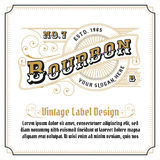 Whiskey vintage frame logo design Royalty Free Stock Photography