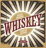 Whiskey vintage tin sign vector illustration