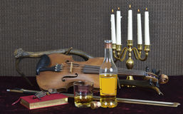 Whiskey and Violin Royalty Free Stock Photography