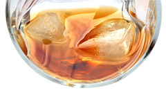 Whiskey On White Royalty Free Stock Photo