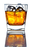 Whiskey withl ice isolated on white background Royalty Free Stock Images