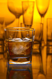 Whiskey withl ice Stock Photo