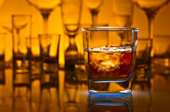 Whiskey withl ice Royalty Free Stock Images