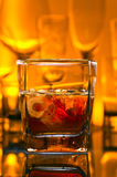 Whiskey withl ice Stock Photography