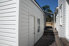 Whiskeytown Camden House. In Whiskeytown National Recreation Area, California. Between the buildings with wooden plank walkway Royalty Free Stock Images