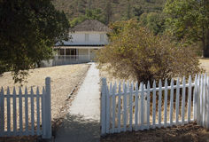 Whiskeytown Camden House. In Whiskeytown National Recreation Area, California. White picket fence and gate Stock Photos