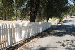 Whiskeytown Camden House. In Whiskeytown National Recreation Area, California. White picket fence and gate. Road in front of house Royalty Free Stock Photos