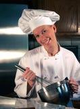 Whisking do cozinheiro chefe Fotografia de Stock