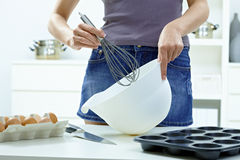 Whisking eggs Stock Photos