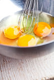 Whisking eggs Royalty Free Stock Images