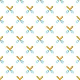 Whisks pattern, cartoon style. Whisks pattern. Cartoon illustration of whisks vector pattern for web stock illustration