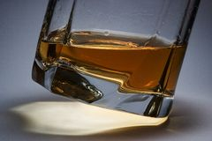Whisky. Ice blocks in whisky, Scotch Stock Photography
