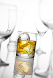 Whisky. On ice, shallow depth of field Royalty Free Stock Image
