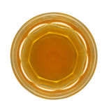 Whisky. Top view of a glass of whisky isolated in white Stock Image
