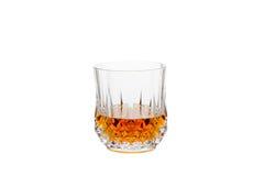 Whisky aislado en Crystal Glass Foto de archivo libre de regalías