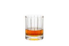 Whisky aislado en un vidrio del Recto-corte Imagenes de archivo
