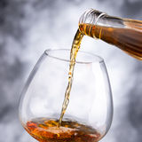 Whisky. Alcoholic beverage whisky glass and bottle Stock Photography