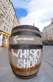 Whisky barrel sign Royalty Free Stock Images