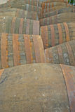 Whisky Barrels at Distillery in Scotland UK Royalty Free Stock Photography