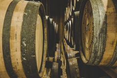 Whisky Barrels Stock Photos