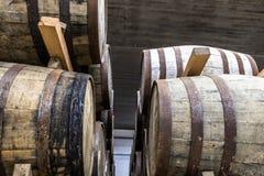 Whisky baryłki w sklepu domu Fotografia Stock