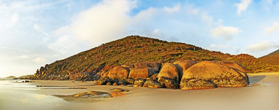 Whisky Bay Beach, Wilsons Promontory. Landscape shot of the sunset at Whisky Bay Beach, Wilsons Promontory, Victoria, Australia Stock Images