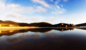 Whisky Bay Beach, Wilsons Promontory. Panoramic shot of the sunset at Whisky Bay Beach, Wilsons Promontory, Victoria, Australia Stock Photography