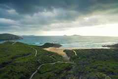 Whisky Bay, Wilson`s Promontory, Australia. Scenic aerial view of Wilson`s Promontory in Victoria, Australia. Whisky Bay Stock Image