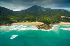 Whisky Bay, Wilson`s Promontory, Australia. Scenic aerial view of Wilson`s Promontory in Victoria, Australia. Whisky Bay Royalty Free Stock Image
