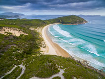 Whisky Bay, Wilson`s Promontory, Australia. Scenic aerial view of Wilson`s Promontory in Victoria, Australia. Whisky Bay royalty free stock photography