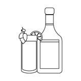 Whisky bottle icon Stock Photography