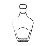 Whisky bottle icon Royalty Free Stock Photos