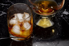 Whisky and brandy Stock Photos