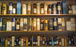 Whisky buteljerar Royaltyfria Bilder