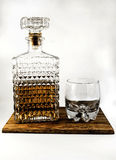 Whisky carafe and glass Royalty Free Stock Photos