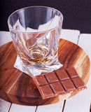 Whisky and chocolate Stock Photography