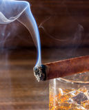 Whisky and cigar Royalty Free Stock Photos