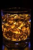 Whisky con ghiaccio Fotografia Stock Libera da Diritti